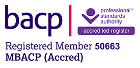 Mike Eustace BACP accredited member logo.